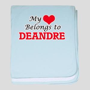 My heart belongs to Deandre baby blanket