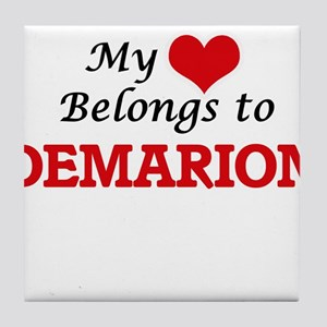 My heart belongs to Demarion Tile Coaster
