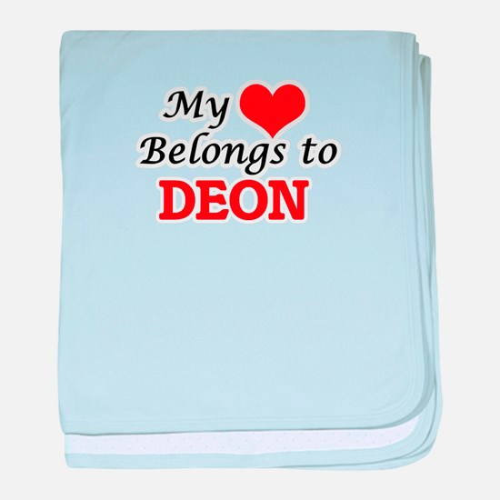 My heart belongs to Deon baby blanket