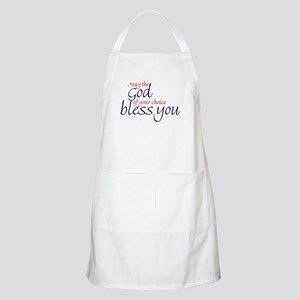 God of choice, bless you BBQ Apron
