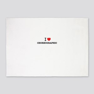I Love CHOREOGRAPHIC 5'x7'Area Rug