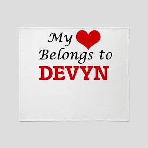 My heart belongs to Devyn Throw Blanket