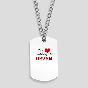 My heart belongs to Devyn Dog Tags