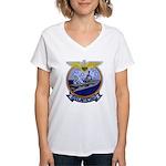 USS ANTIETAM Women's V-Neck T-Shirt