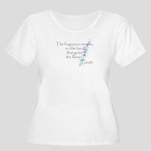 Gandhi Quote Women's Plus Size Scoop Neck T-Shirt