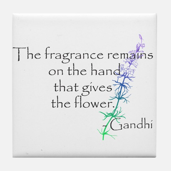 Gandhi Quote Tile Coaster