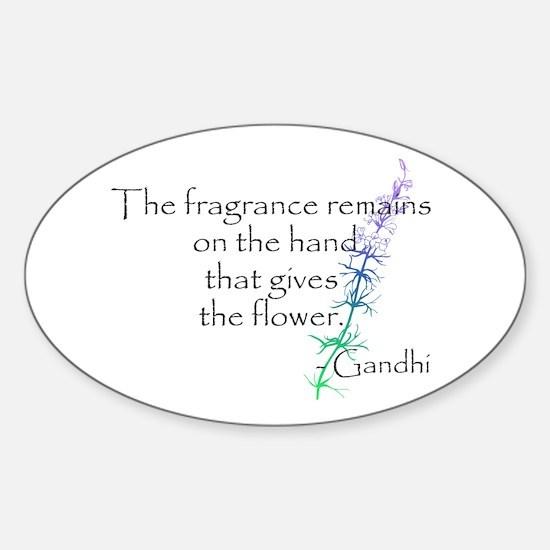 Gandhi Quote Sticker (Oval)