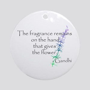 Gandhi Quote Ornament (Round)