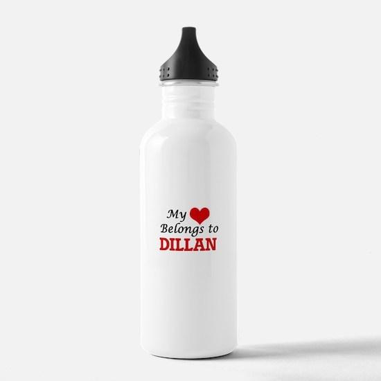 My heart belongs to Di Water Bottle