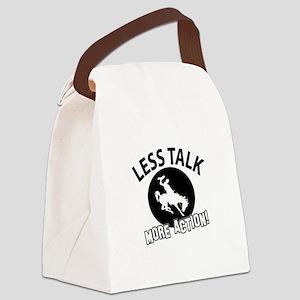 Less Talk Bornc riding More Actio Canvas Lunch Bag