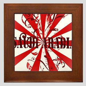 Red Saudi Arabia Framed Tile