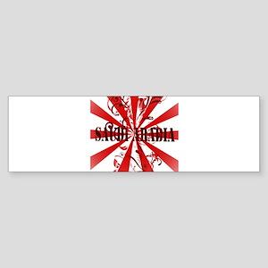 Red Saudi Arabia Bumper Sticker