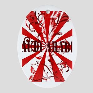 Red Saudi Arabia Oval Ornament