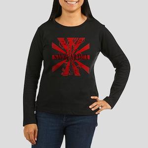 Red Saudi Arabia Women's Long Sleeve Dark T-Shirt