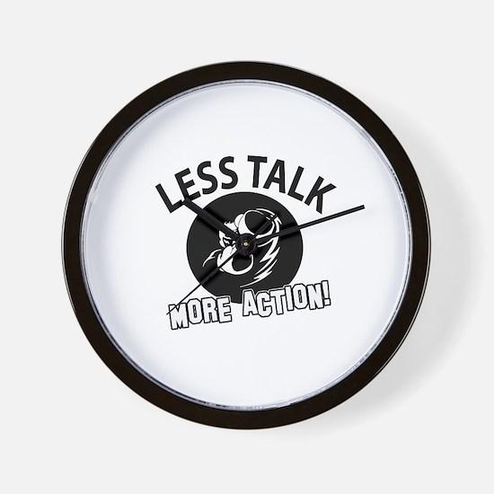 Less Talk Boxing More Action Designs Wall Clock