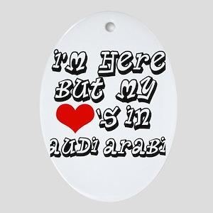 my hearts in Saudi Arabia Oval Ornament