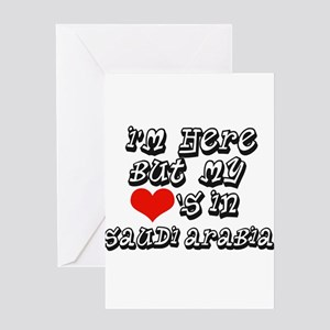 my hearts in Saudi Arabia Greeting Card