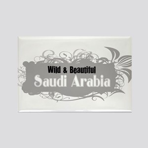 Wild Saudi Arabia Rectangle Magnet
