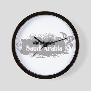 Wild Saudi Arabia Wall Clock