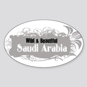 Wild Saudi Arabia Oval Sticker