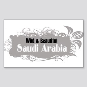 Wild Saudi Arabia Rectangle Sticker