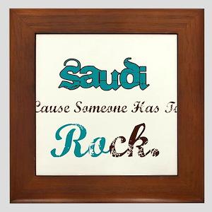 Saudi Rocks Framed Tile