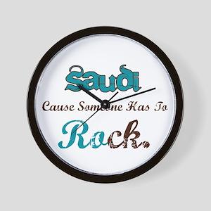 Saudi Rocks Wall Clock