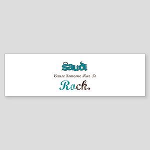 Saudi Rocks Bumper Sticker