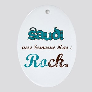 Saudi Rocks Oval Ornament