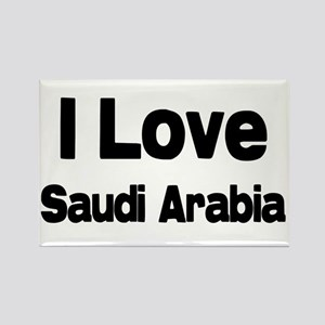 I love Saudi Arabia Rectangle Magnet