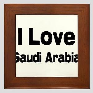 I love Saudi Arabia Framed Tile