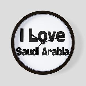 I love Saudi Arabia Wall Clock