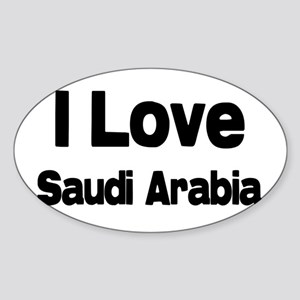 I love Saudi Arabia Oval Sticker