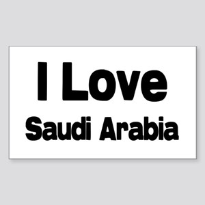 I love Saudi Arabia Rectangle Sticker