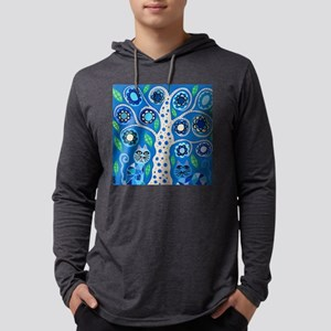 Blue Cats Mens Hooded Shirt