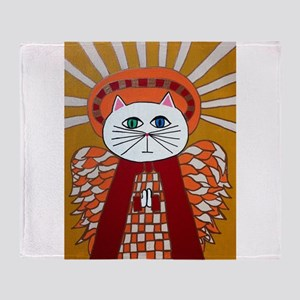 Blue Cats Throw Blanket