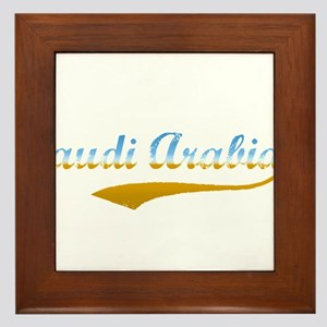 Saudi Arabia beach flanger Framed Tile