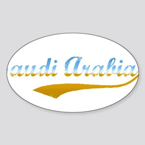 Saudi Arabia beach flanger Oval Sticker