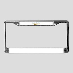 Saudi Arabia beach flanger License Plate Frame