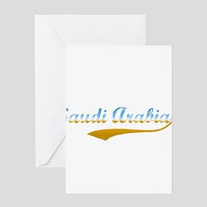 Saudi Arabia beach flanger Greeting Card