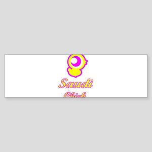 Saudi Chick Bumper Sticker