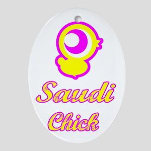 Saudi Chick Oval Ornament