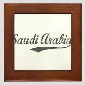 Saudi Arabia flanger Framed Tile