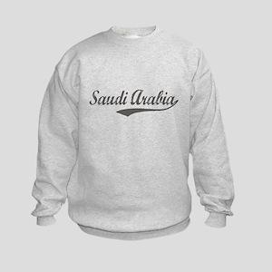 Saudi Arabia flanger Kids Sweatshirt