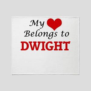 My heart belongs to Dwight Throw Blanket