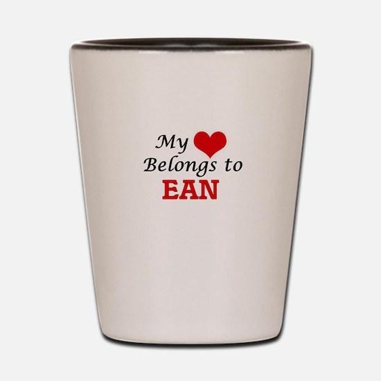 My heart belongs to Ean Shot Glass