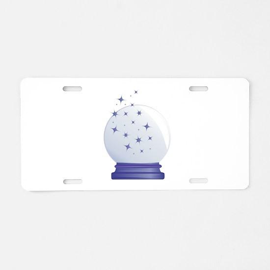 Crystal Ball Aluminum License Plate