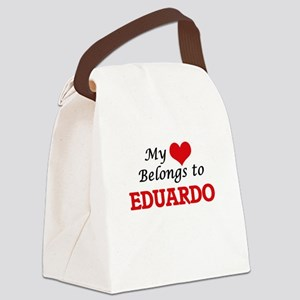 My heart belongs to Eduardo Canvas Lunch Bag