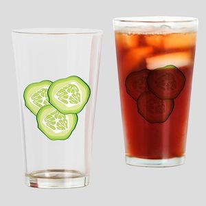 Cucumbers Drinking Glass