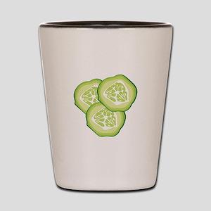 Cucumbers Shot Glass